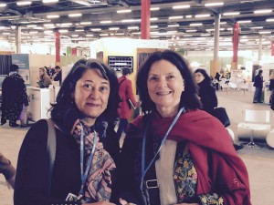 Isis de Palma and Betsan Martin at COP21